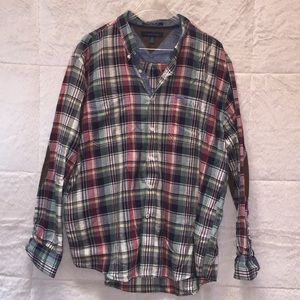 Tommy Hilfiger men's button-down plaid shirt (219)